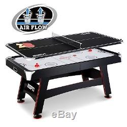 Air Hockey Table Top Tennis Set Indoor Scoring Game WithAccessories Kids Fun Play
