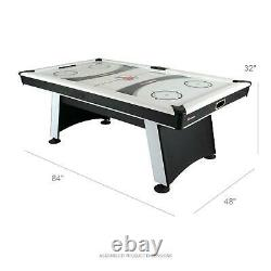 Air Hockey Table with Heavy-Duty Blower plus Electronic Scoring and Leg Levelers