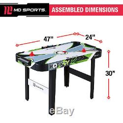 Air Powered 48 Hockey Table High-Gloss Playing Surface With LED Electronic Scorer