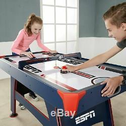 Air Powered Hockey Table 60 Inch Overhead LED Electronic Scorer Game Room ESPN