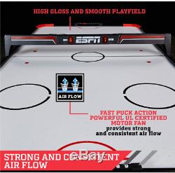 Air Powered Hockey Table With Overhead LED Scorer Family Game Home 60 5 FT