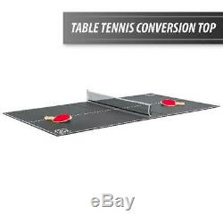 Air Powered Hockey with Table Tennis Top 80 NHL Included Pucks Paddles Pushers US