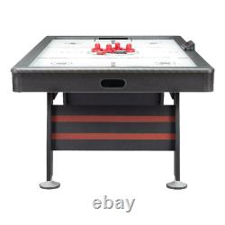 Airzone Air Hockey Table With High End Blower, 84, Red And Black