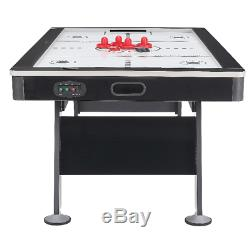 Airzone Air Hockey Table w High-end blower 80 Black and Chrome