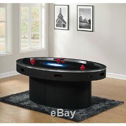 American Heritage Billiards Ellipse Black Six Player Air Hockey Table 390033