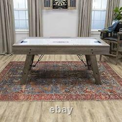 American Legend Brookdale Air-Powered Hockey Table with Rustic Wood Grain Fin