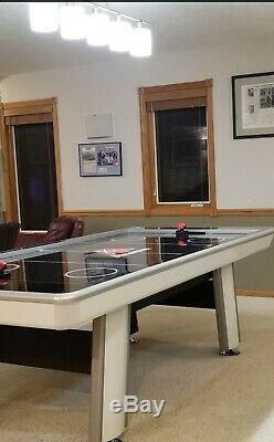 Atomic 8 ft Avenger Air Hockey Table with Free Paddles & Pucks