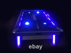 Atomic 90 Or 7.5 Ft Led Light Up Arcade Air Powered Hockey Tables Includes Li
