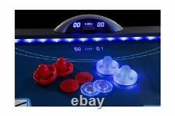 Atomic 90 or 7.5 ft LED Light UP Arcade Air Powered Hockey Tables Includes