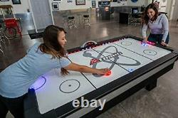 Atomic 90 or 7.5 ft LED Light UP Arcade Air Powered Hockey Tables inc Light UP