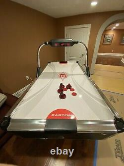 Barely Used Air Hockey Table 84 Regulation Size with Electronic Scoreboard
