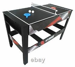 Billar mesa multijuego giratoria discos Aire Hockey billar tenis de mesa pin pon