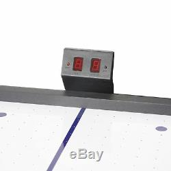 Blue Air Hockey Table Pucks Pusher Electronic Scoring Game Sport Home Outdoor