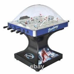 Breakaway Dome Hockey Table with E-Z Grip Handles and LED Black