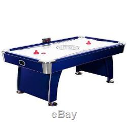 Deep Blue Melamine 7.5 ft. Air Hockey Game Table with Electronic Scoring