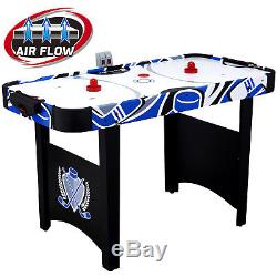 Deluxe LED Hockey Table 48 Inch Air Powered Electronic Indoor Game Room