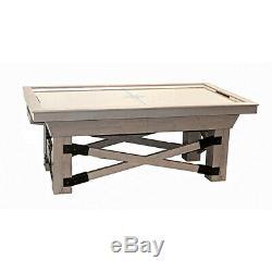 Driftwood Maple Dynamo Rustic Air Hockey Table