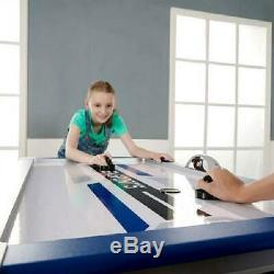 EA Sports 54 Inch Air Powered Hockey Table with LED Electronic Scorer Sturdy Leg