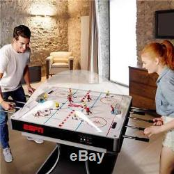 ESPN 2-Player Premium Dome Bubble Hockey Table with LED Scoring System (Open Box)