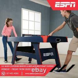 ESPN 5 Ft Air Hockey Table Overhead Electronic Scorer 2 Pushers & Pucks Indoor