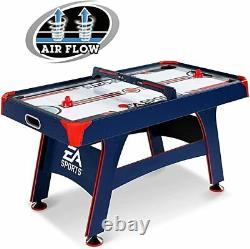 ESPN 60 Air Powered Hockey Table, Overhead Electronic Scorer Blue/Red