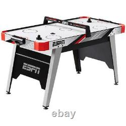 ESPN 60 Air Powered Hockey Table, Overhead Electronic Scorer, Red/Black
