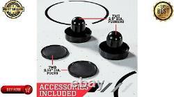 ESPN 60i n Air Hockey Game Table, LED Overhead Electronic Scorer Black/Red NEW