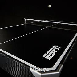 ESPN 72 Inch Air Powered Hockey Table Table Tennis Top and In-Rail Scorer