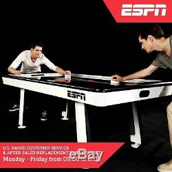 ESPN 84 Inch Indoor Family Game Room Air Powered Hockey Table Accessories 7ft
