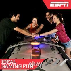 ESPN Air Hockey Table Overhead Electronic Scorer 4 Pushers 4 Pucks Indoor 7 Ft