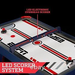 ESPN Air Hockey Table, Overhead Electronic Scorer, Blue/Red, 60 size