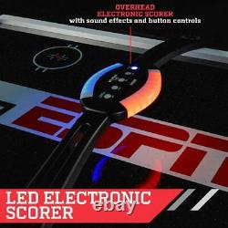 ESPN Air Powered Hockey Table 7 Ft Overhead Electronic Score 4 Pushers & 4 Pucks