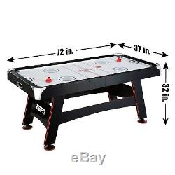ESPN Air Powered Hockey Table Tennis Top In Rail Scorer Certified 72 Inch 120V