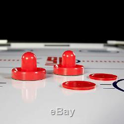 ESPN Air Powered Hockey Table With Table Tennis Top & In-Rail Scorer 72 Inch New