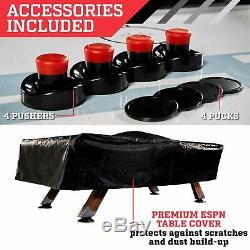 ESPN Belham Collection 8 Ft. Air Powered Hockey Table Electronic Scorer & Cover