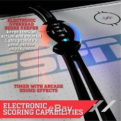 ESPN Belham Collection 8 Ft. Air Powered Hockey Table with Overhead Electronic
