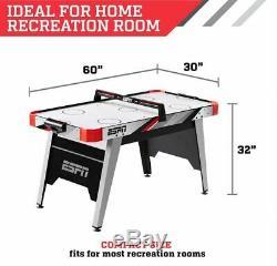 ESPN Kids 60 Air Powered Hockey Table Overhead Electronic Scorer Red/Black NEW