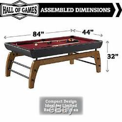 Edgewood 84 Billiard Table, Burgundy/Black (BL084Y19003)