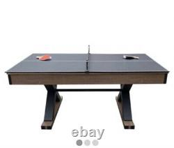 Excalibur 6-ft Air Hockey Table with Table Tennis Top