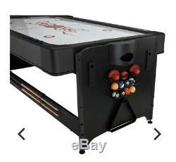 Fat Cat Multi-Game Entertainment Table, Air Hockey, Billiards Pool, Table Tennis