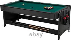 Fat Cat Original 2-in-1, 7-Foot Pockey Game Table Air Hockey and Billiards