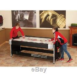 Fat Cat Original 2-in-1, 7' Pockey Game Table Billiards & Air Hockey / 64-1010