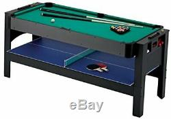 Fat Cat Original 3-in-1, 6-Foot Flip Game Table Air Hockey, Billiards and Table