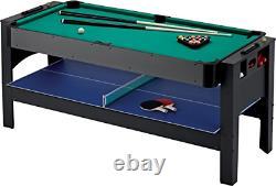 Fat Cat Original 3-in-1, 6-Foot Flip Game Table Air Hockey, Billiards and Table