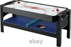 Fat Cat Original 3-in-1 6-Foot Flip Game Table Air Hockey Billiards and Table