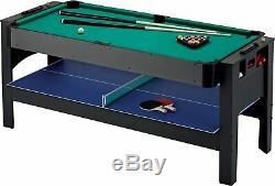 Fat Cat Original 3-in-1,6-Ft. Flip Game Table Air Hockey, Billiards, Table Tennis