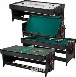 Fat Cat Original 3-in-1, 7' Pockey Table Game, Billiards, Air Hockey, T. Tennis