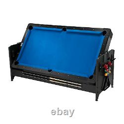 Fat Cat Original 3 in 1 Air Hockey, Billiards, & Table Tennis Game Table, Blue