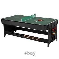 Fat Cat Pockey 3-in-1 Air Hockey, Billiards, & Table Tennis Game Table(Open Box)