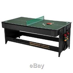 Fat Cat Pockey 3 in 1 Game Table Billiards Air Hockey Table tennis 7 ft Tri Fold
